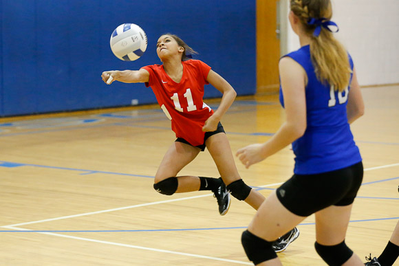 October 23, 2014.<br /> MCHS JV Volleyball vs George Mason.  Madison wins 2-0.