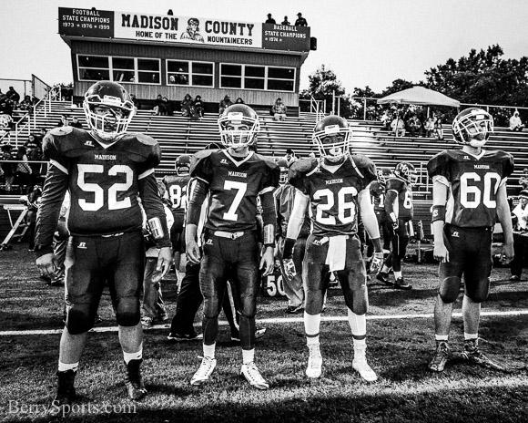 October 01, 2015.   MCHS Varsity Football vs Riverside.  Madison wins 47-6.