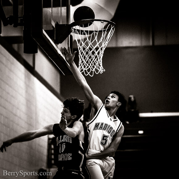 February 05, 2016. MCHS JV Boys Basketball vs William Monroe.
